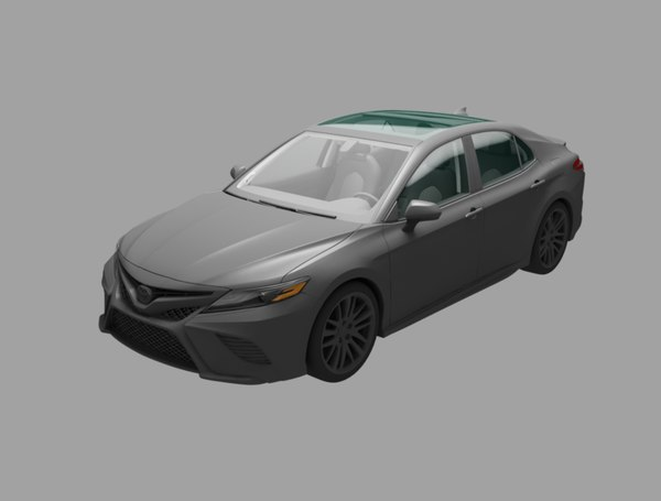 3D camry car model
