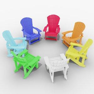 3D adirondak chair