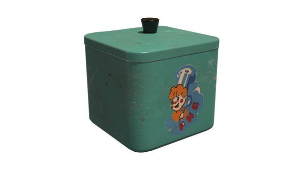old kitchen container 3D model