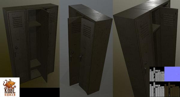 3D model lockers asset koolkraken