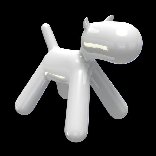 3D puppy chair print