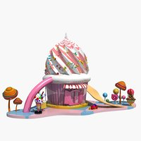 3D candy house 2 model