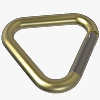 3D triangle carabiner