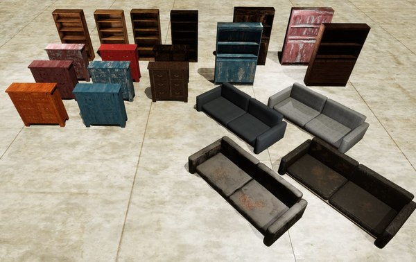 3D model furniture pack sofa 23