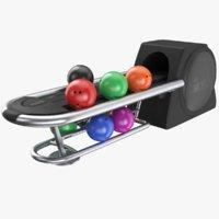 real bowling return 3D model