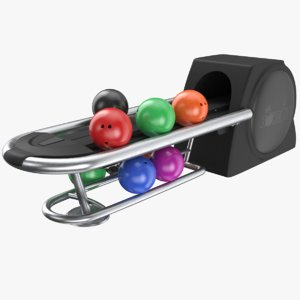 real bowling return 3D model