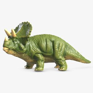 triceratops plastic toy 3D model