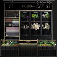 shop display refrigerated flower 3D model