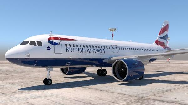 3D a320 320 british