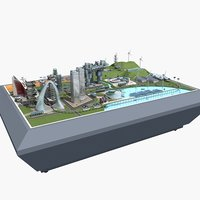 future city sand table 3D model