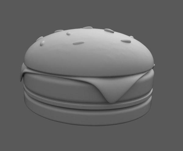 3D small burger