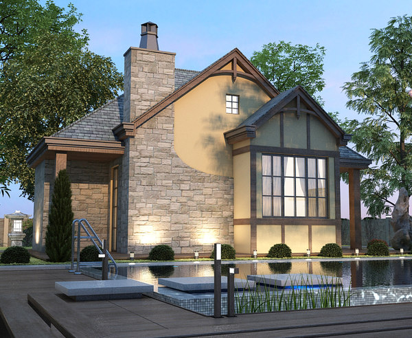 real villa 3D model