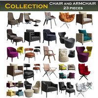 3D chair armchair