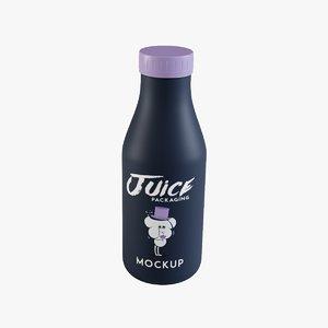 juice bottle 2 3D