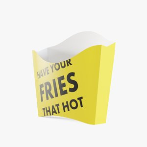 3D french fries box