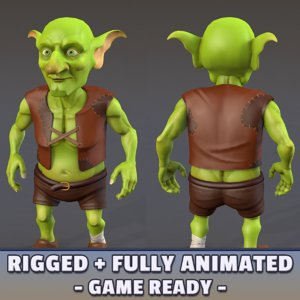 3D goblin animations model