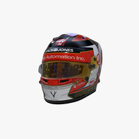 magnussen 2019 helmet 3D