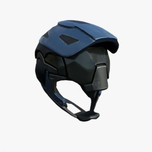 helmet helm scifi 3D model