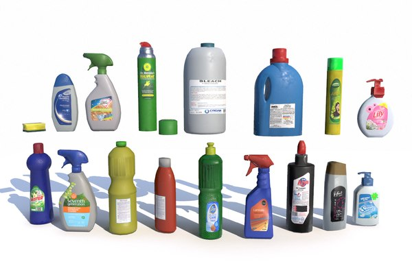 3D model cleaning products