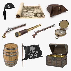 pirate props 3D model