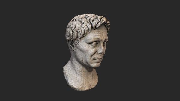 head sculpture 3D