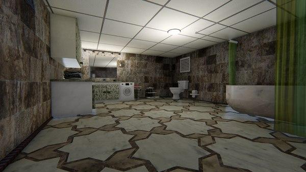 bathroom bath room 3D model