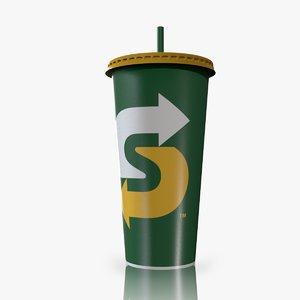 cup subway 3D model