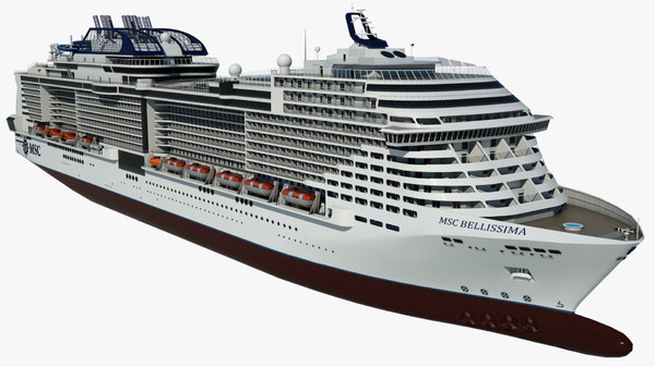 cruise vessel msc bellissima 3D model