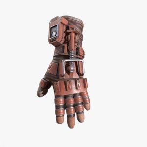 3D sci-fi glove model
