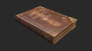 3D book antique
