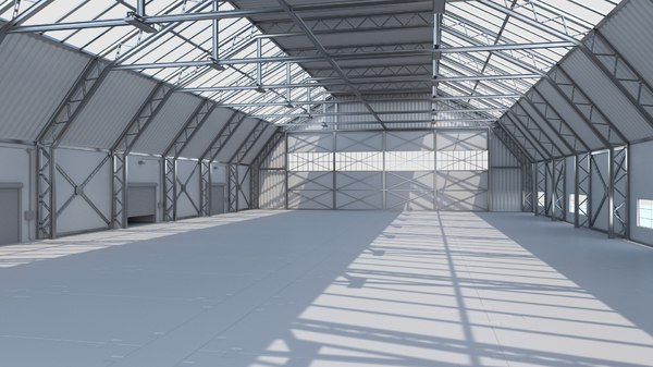 warehouse hangar interior 3D