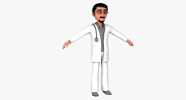3D saudi doctor model