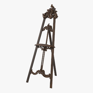 3D baroque easel model