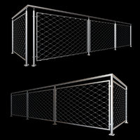 3D model stainless railing