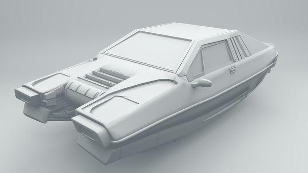 3D cyberpunk car model