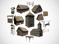 Early medieval building pack