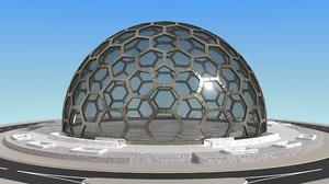3D big dome model