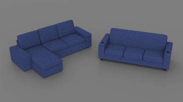 3D sofas cup holder