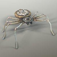 Steampunk Spider Robot