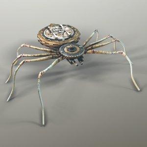 3D ready steampunk spider robot