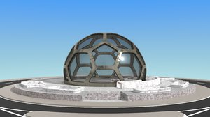 3D dome blender greenhouses