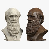 3ds max decorative bust darwin