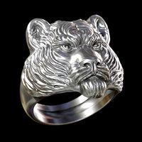 3D tiger head ring