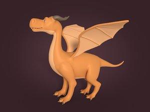 3D dragon cartoon