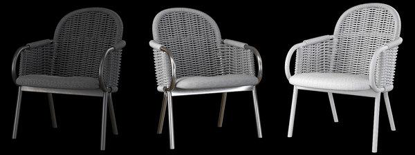zantilam wicker armchairs 3D model