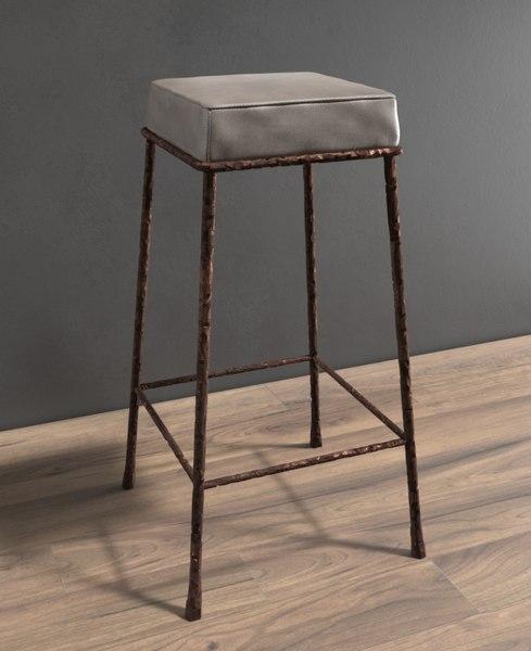 3D abstracted bar stool marini