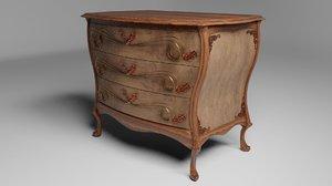 3D furniture chiffonier ornaments pbr