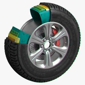 3D wheel t70