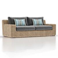 cayman outdoor sofa 3D model