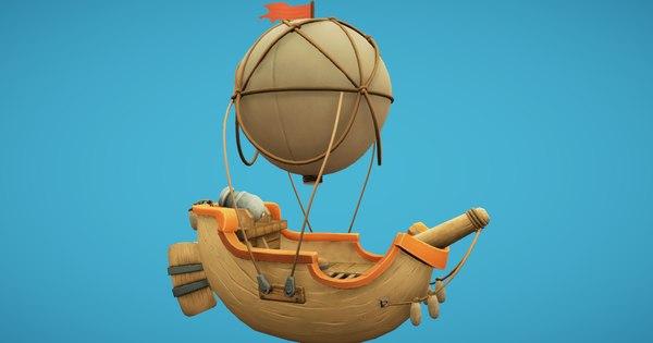 balloon boat 3D